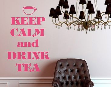 Immagine del prodotto Adesivo murale no.EV70 Keep Calm And Drink Tea