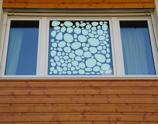 Produktfoto Fensterfolie - Sichtschutzfolie No.UL971 Kieselsteine II - Milchglasfolie - Milchglasfolie
