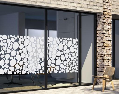 Produktfoto Fensterfolie - Sichtschutzfolie No.UL973 Kieselsteine I - Milchglasfolie