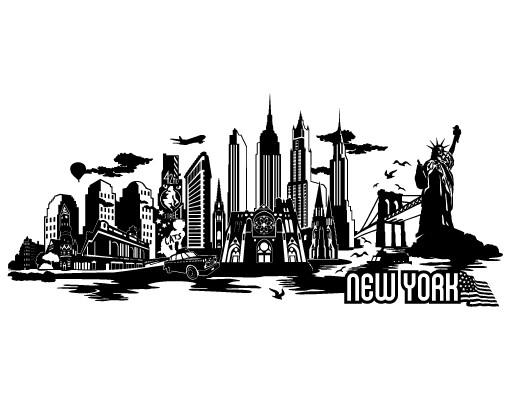 Produktfoto Stadt New York - Wandtattoo New York Skyline - No.JR38 New York Skyline XXL