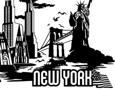 Product picture Wall Decal no.JR38 New York Skyline XXL