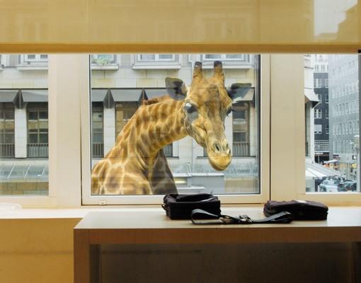 Produktfoto Fenstersticker No.21 Neugierige Giraffe 80x67cm