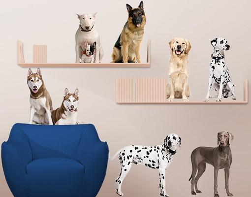 Produktfoto Wandtattoo No.369 Dogs Set III 90x81cm