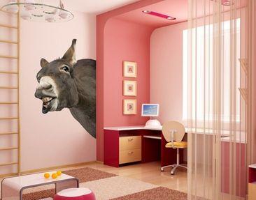 Produktfoto Wandtattoo No.249 Neugieriger Esel 50x80cm