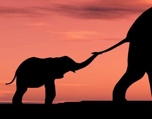 Produktfoto Leinwandbild No.93 Savannah Elefant Family 120x40cm