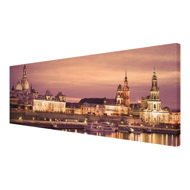 Produktfoto Leinwandbild No.138 Canalettoblick Dresden 120x40cm