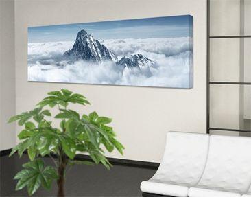 Produktfoto Leinwandbild No.116 Die Alpen über den Wolken 120x40cm