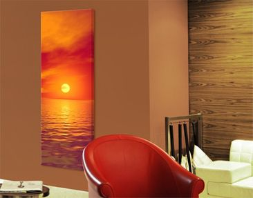 Produktfoto Leinwandbild No.316 Beautiful Sunset 40x120cm