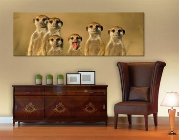 Product picture Canvas Art no.331 Meerkat Family 120x40...