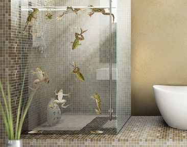 Produktfoto Window Sticker no.646 Frog Bath