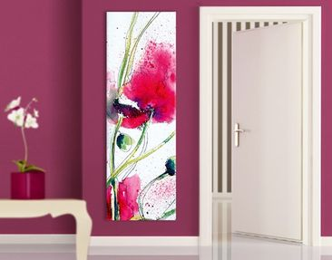 Produktfoto Leinwandbild No.471 Painted Poppies 40x120cm
