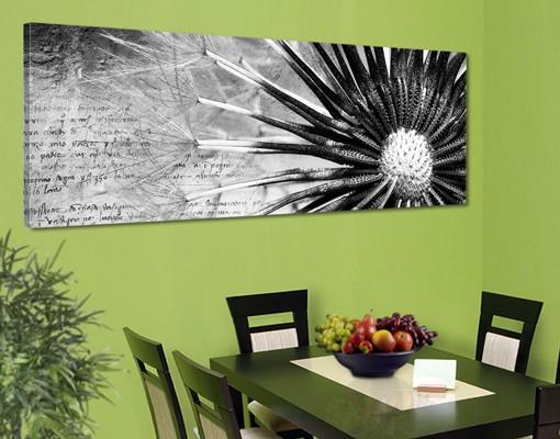 Produktfoto Leinwandbild No.498 Pusteblume Schwarz & Weiß 120x40cm