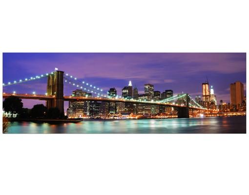 Produktfoto Leinwandbild No.536 Brooklyn Bridge in New York City 120x40cm