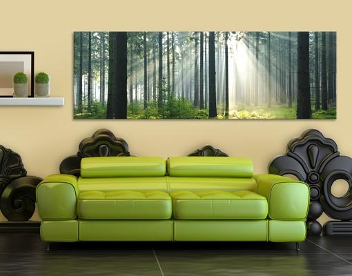 Produktfoto Leinwandbild No.572 Enlightened Forest 120x40cm