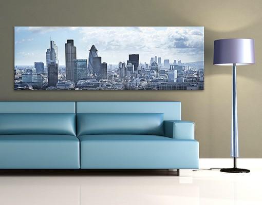 Produktfoto Leinwandbild No.583 London Skyline 120x40cm