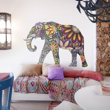 Produktfoto Wall Decal no.651 Elephant Pattern