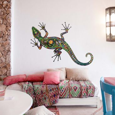 Product picture Wall Decal no.652 Gecko Pattern