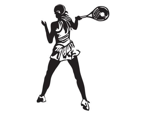 Produktfoto Wandtattoo No.UL981 Tennisspielerin