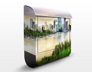 Produktfoto Briefkasten mit Zeitungsfach - Brisbane - Wandbriefkasten