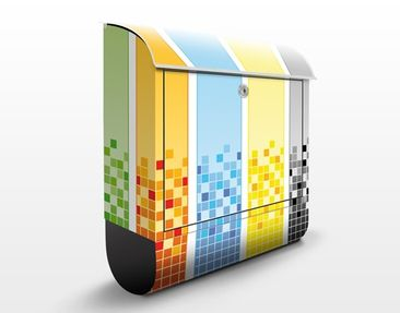Product picture Design Letter Box Pixel Mix 39x46x13cm