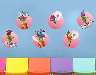 Immagine del prodotto Adesivo murale Flying Farm Flower-Ribbon In Rose