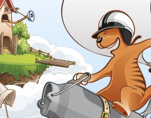 Produktfoto Leinwandbild Kreis Fliegender Bauernhof Wettrennen
