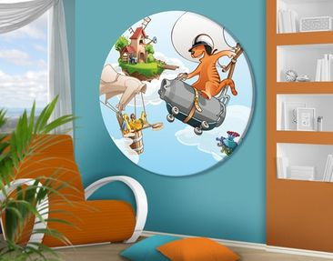 Product picture Canvas Art Circle Flying Farm Race