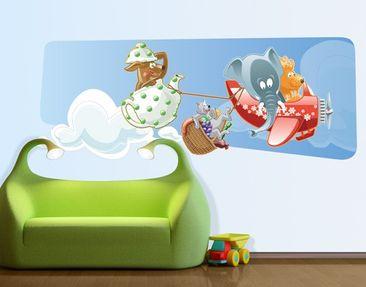 Produktfoto Wandtattoo Elefant Picknick der Tiere