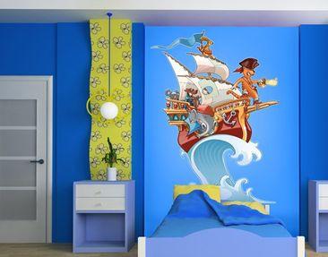 Produktfoto Wandtattoo Elefant Piratenschiff