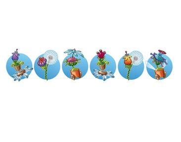 Product picture Wall Decal Bordure Flying Farm...