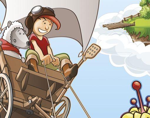 Produktfoto Leinwandbild Kreis Fliegender Bauernhof Heuwagenfahrt