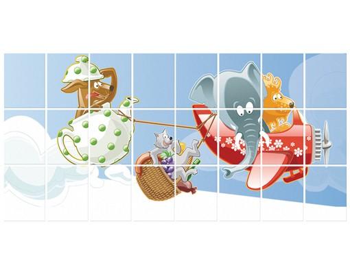 Produktfoto Fliesenbild Picknick der Tiere