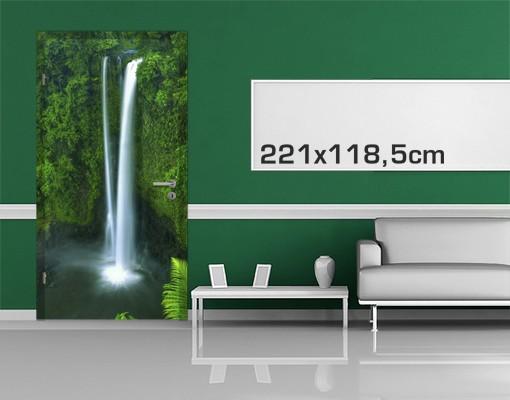 Produktfoto Türtapete Wasserfall selbstklebend - Paradiesischer Wasserfall
