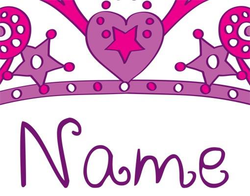 Produktfoto Wandtattoo Sprüche - Wandtattoo Namen No.RY21 Wunschtext Prinzessinnen-Krone