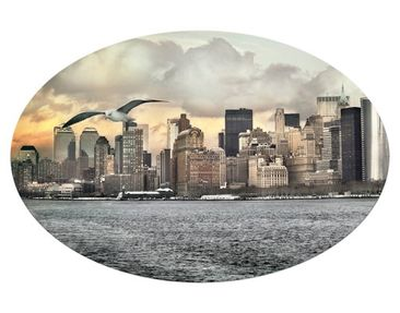 Product picture Canvas Art Oval no.YK1 New York