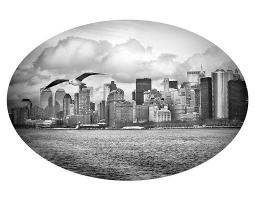 Produktfoto Leinwandbild Oval No.YK1 New York II