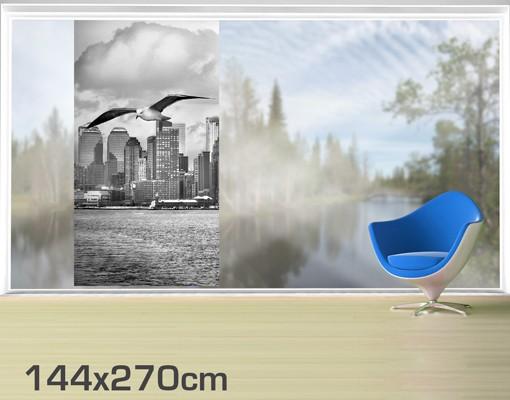 Produktfoto Fensterfolie - XXL Fensterbild No.YK1 New York II - Fenster Sichtschutz