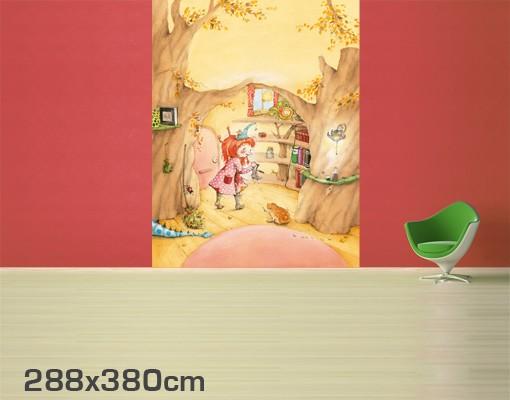 Produktfoto Kindertapete selbstklebend - Frida sucht ihre Sachen