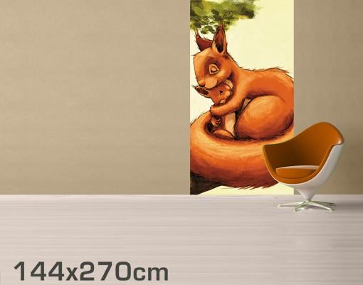 kinderzimmer fototapete wald einh rnchen mama selbstklebende vinyltapete. Black Bedroom Furniture Sets. Home Design Ideas