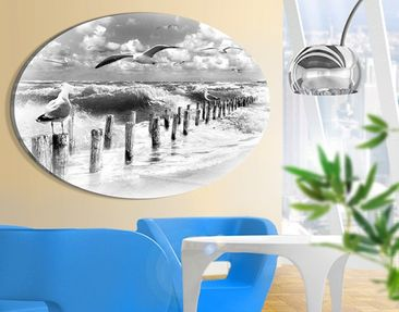 Product picture Canvas Art Oval no.YK3 Absolutely Sylt...