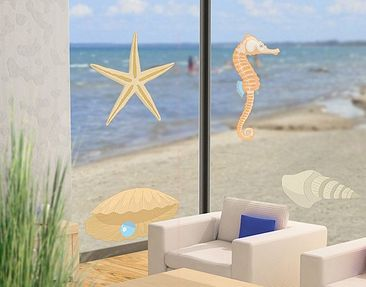 Produktfoto Fensterfolie - Fenstersticker No.RY28 Muschelmix - Fensterbilder