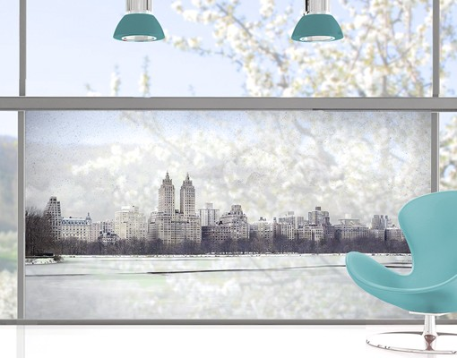 Produktfoto Fensterfolie - Sichtschutz Fenster No.YK2 New York im Schnee - Fensterbilder