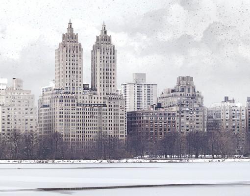 Produktfoto Leinwandbild Kreis No.YK2 New York im Schnee