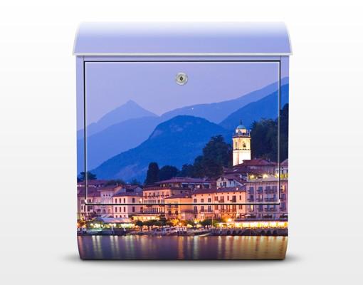 Produktfoto Briefkasten mit Zeitungsfach - Bellagio am Comer See - Wandbriefkasten