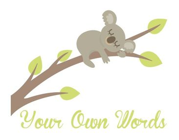 Product picture Wall Decal no.EV108 Your Own Words Sweet...