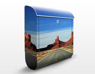 Produktfoto Briefkasten mit Zeitungsfach - Colorado-Plateau - Hausbriefkasten Blau
