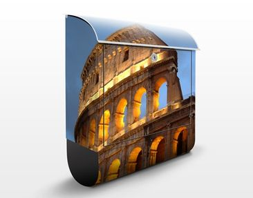 Produktfoto Briefkasten mit Zeitungsfach - Colosseum at Night - Rom