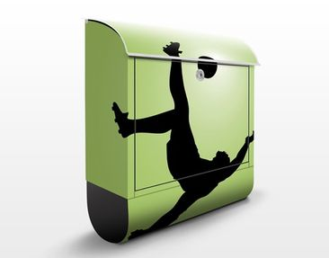 Produktfoto Design Letter Box Footballer in Action...