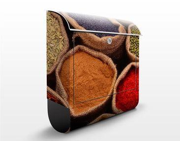 Produktfoto Wandbriefkasten - Colourful Spices - Briefkasten Bunt