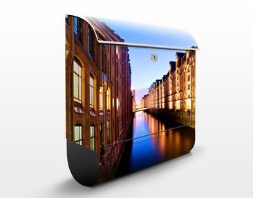 Produktfoto Briefkasten mit Zeitungsfach - Hamburg Speicherstadt - Wandbriefkasten